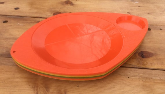 Plastic Plate Holder Picnic BBQ Party Camping Outdoor Washable BBQ Food Tray