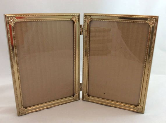 Vintage Double Picture Frames 5 x 7 / Gold Tone 5 x 7 Double Frames ...