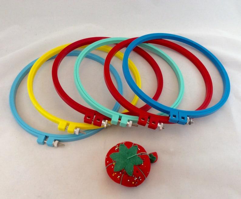 Embroidery Hoops 8 Plastic Multi Colored 8 Plastic Embroidery Hoops 8 Round Embroidery Hoops