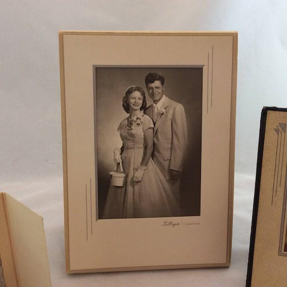 Vintage Sepia Photos In Cardboard Frames Vintage Photographs Etsy