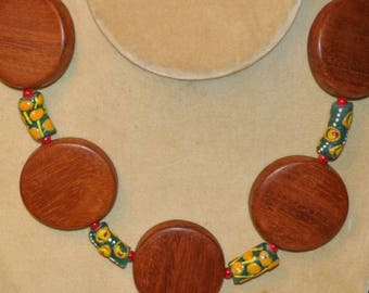 Wood Disk Neck Piece