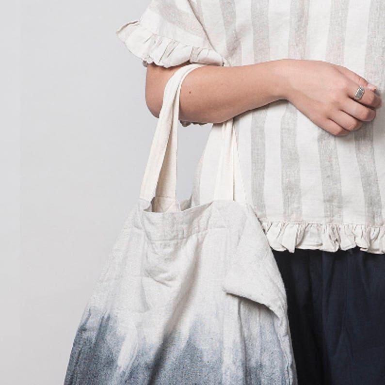 Ombre Linen Bag