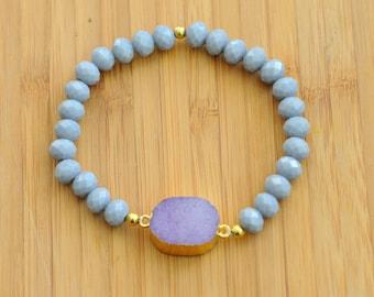 Mommy druzy bracelet add on (purple)