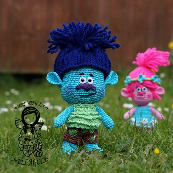 Crochet Pattern Troll Branch Crochet Doll Pattern Trolls Etsy
