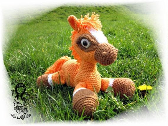 Häkeln Sie Muster Amigurumi Mein Kleines Pferd Bronco 3d Etsy