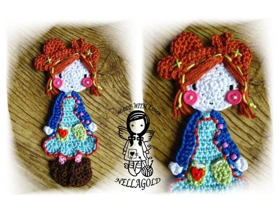 Crochet Doll Dress Applique Patterns ⋆ Crochet Kingdom | 428x570
