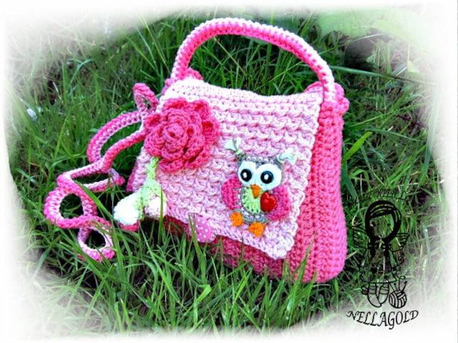 Häkeln Sie Muster Handtasche Eule Eule Häkeltasche | Etsy