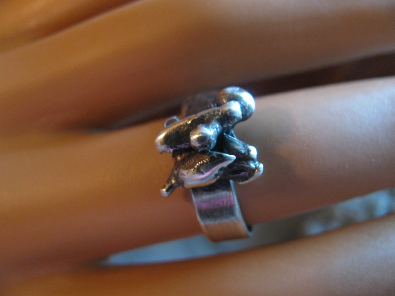 Rustic Thomas Burton Collection Toniraecreations Industrial Recycled Rough OOAK Sz 7.5 Sterling Silver Ring Heavy Duty One of a Kind