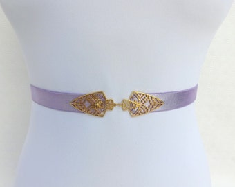 Light purple elastic waist belt. Dress belt. Pastel purple belt. Lavender belt. Bridal belt. Bridesmaids belt. Wedding belt. Stretch belt.