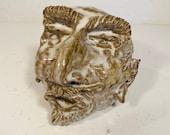 Vintage Sewer Tile Satan Outsider Folk Art Pottery Sculpture