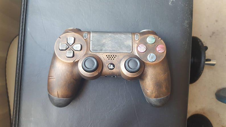 Brass . Custom STEAMPUNK  WASTELAND Rustic PS4 Controller fan art