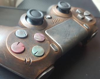 Custom STEAMPUNK / WASTELAND Rustic PS4 Controller - Brass .. fan art