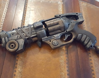 SALE !!!!! STEAMPUNK gun, Silver Hand Canon, Nerf Style toy gun ! For cosplay