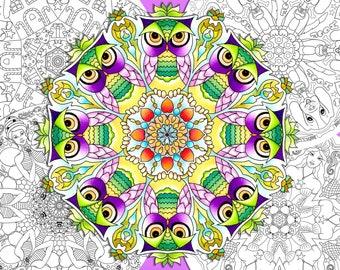 Adult Coloring Book, 27 Mandalas,  Printed Version, Colouring Book, Coloring Pages, Painting Book, Mandala