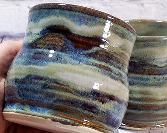 Handmade Twisty Ceramic Wine Cup Set Pottery Wine Glass Vintage ceramic mug Ceramic Wine Cup Forward Pottery