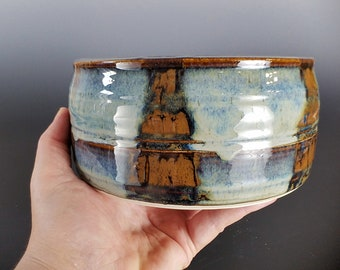 Hand Thrown Pottery Serving Bowl, Ceramic Serving Bowl, Fruit Bowl, Snack Bowl, Handmade, Rustic