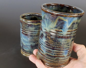 Rustic Pottery Beer Glass, Beer Tankard, Ceramic Beer Stein, Ceramic Tumbler, Barware