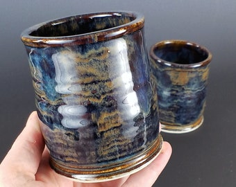 Hand Thrown Pottery Wine Cup, Ceramic Wine Cup, Pottery Tumbler, Stemless Wine Glass, Whiskey Tumblers, Rustic, Handmade, Each, Housewarming