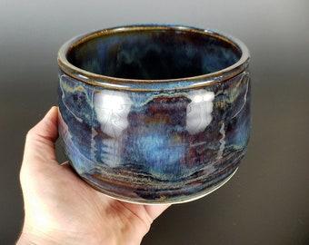 Hand Thrown Pottery Serving Bowl, Ceramic Serving Bowl, Fruit Bowl, Snack Bowl, Handmade, Rustic, Centerpiece, Housewarming, Wedding