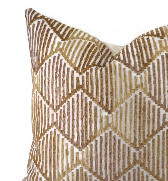 """Lovely Chenille Diamante 1 Stripe Sofa Cushion Cover only or with Filling 18x18/"""""""