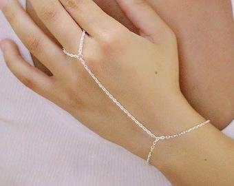 Fairy Bracelet Ring Bracelet Punk Jewelry Ring Chain Bracelet Gilavar Hand Chain