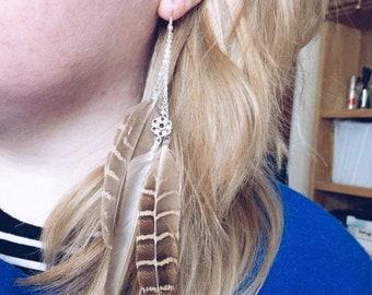 Long Feather Earrings Ear Ring Ear Cuff