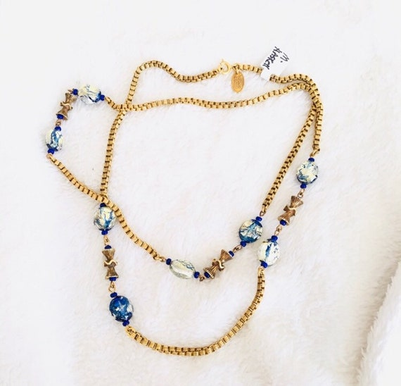 1950's Vintage Miriam Haskell Box Chain Necklace 2