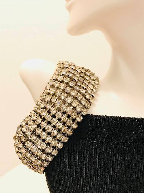 Vintage Bracelet Rhinestone Bracelet Cuff Bracelet