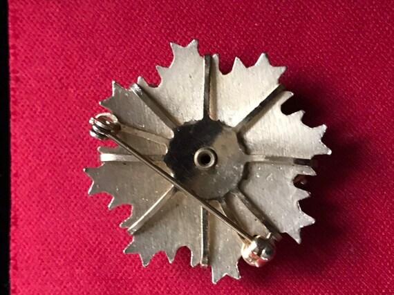 Vintage Brooch Vintage Pin Enamel Pin Rhinestone … - image 4