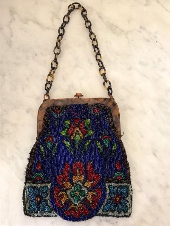 Vintage Handbag Micro Handbag Beaded handbag Bakel
