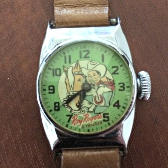 Roy Rogers wristwatch, Roy & Trigger, Vintage 1950s