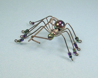robert the bruce/'s spider brooch scottish legend handmade sterling silver pin