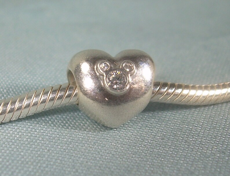 51d3a421c PANDORA-791453CZ-Disney Heart Of Mickey Mouse Ears Clear CZ | Etsy
