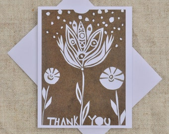 Thank You Flower- Blank Thank You Card