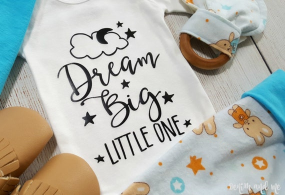Dream Big Little One Gift Set Newborn Baby Boy Flannel Gift Set Only 1 Gift Set Left Newborn Baby Boy Coming Home Outfit