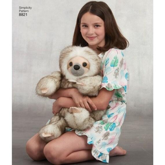 Panda Simplicity Sewing Pattern 8821 15 Inch Stuffed Animals Sloth Koala Use to Make