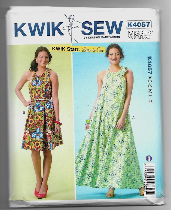 K4057 Kwik Sew Dresses Sewing Pattern Sizes Xs Xl Learn To Sew Etsy