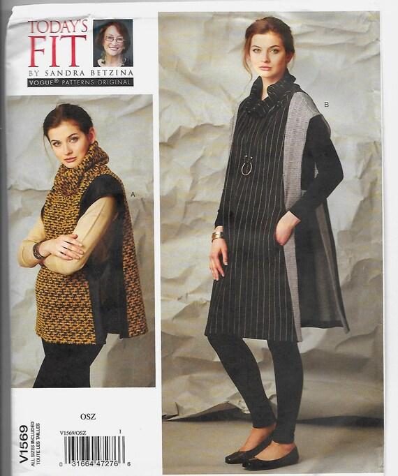 V1569 Vogue Tabards Sewing Pattern Sizes A-J Sandra Betzina