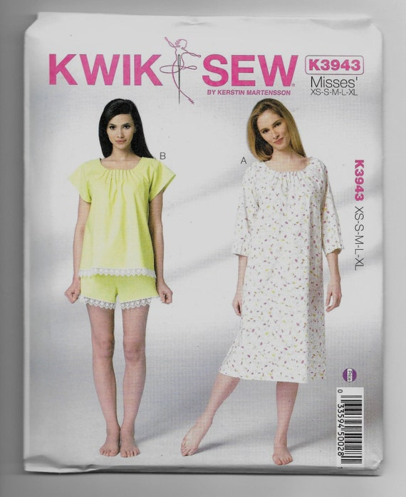 K3943 Kwik Sew Womens Sleepwear Sewing Pattern Sizes Etsy