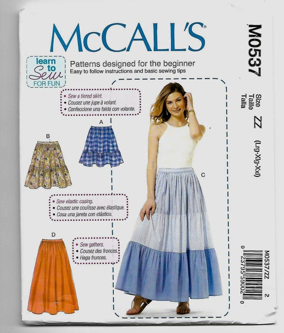 M0537 Mccalls Pull On Skirts Sewing Pattern Sizes 16 26 Etsy