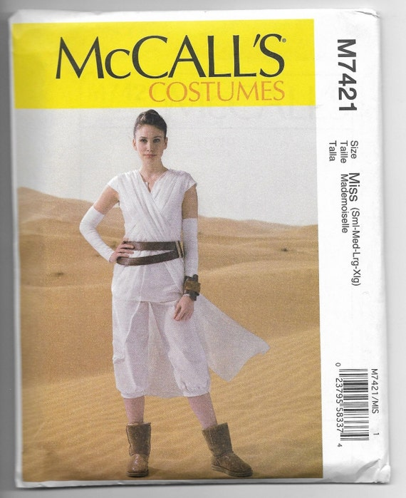 M7421 McCall\'s Star Wars VII Rey Costume Sewing Pattern | Etsy