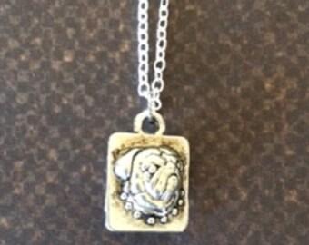 Dog Necklace - Dog Jewelry - Dog Jewlery - Dog Pendant - Bulldog Necklace - Bulldog Jewelry - Animal Necklace - Animal Jewelry - Necklace