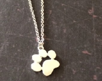 Paw Print Necklace - Paw Print Jewelry - Paw Print Pendant - Dog Paw Necklace - Cat Paw Necklace - Dog Lover Gift - Cat Lover Gift