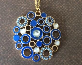 Blue Necklace - Blue Jewelry - Blue Pendant - Blue Pendant Necklace - Royal Blue Wedding - Royal Blue Necklace - Royal Blue Jewelry - Gift
