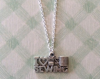 SALE - CLEARANCE - Sewing Jewelry - Sewing Necklace - Gift for Sewers - Sewing Gift - Seamstress Gift - Gift for Seamstress - Crafter Gift