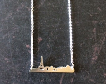 Paris Necklace - Paris Jewelry - Paris Cityscape - Eiffel Tower - Eiffel Tower Necklace - Eiffel Tower Jewelry - Paris Skyline Necklace