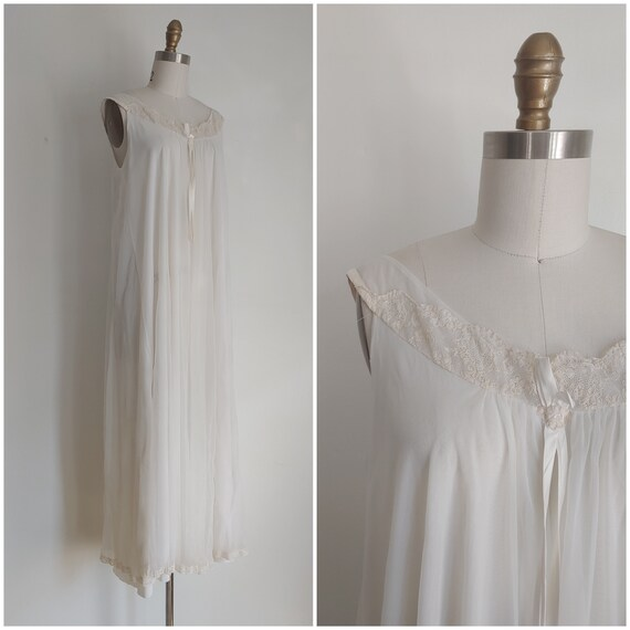 vintage 1950s Alice Maloof peignoir nightgown