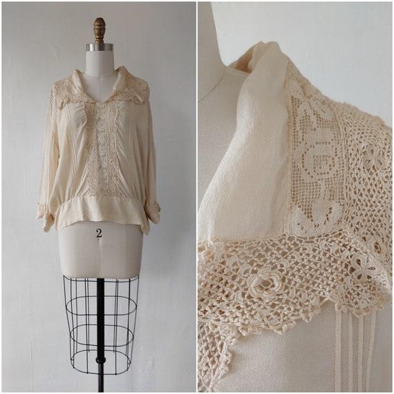 edwardian blouse - rare antique edwardian 1910s iv