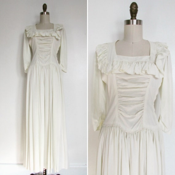 1950s Wedding Dress Vintage 1940s Wedding Small The Lisa Etsy