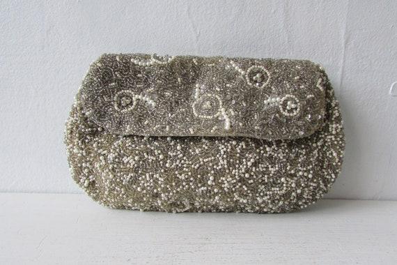 vintage bag | 1960's purse | 1960s clutch | beaded
